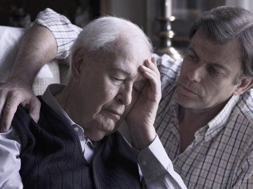 homme souffrant de la maladie d'alzheimer