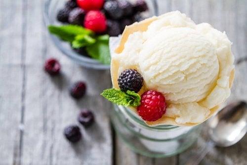 glace à la vanille faible en calories