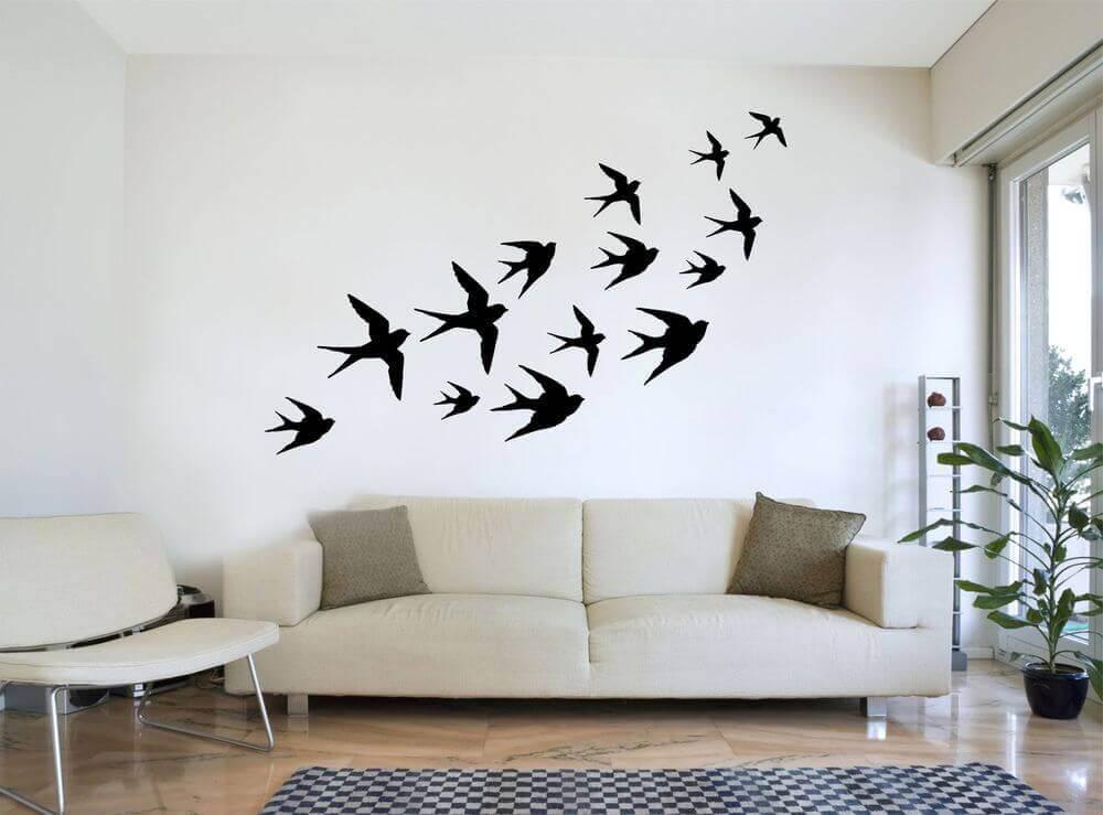décorer les murs avec des dessins