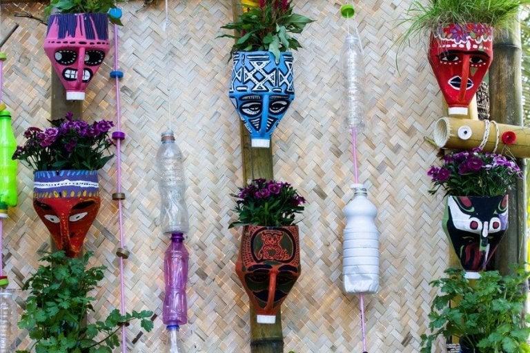 Fabriquez de jolis pots avec des matériaux recyclés