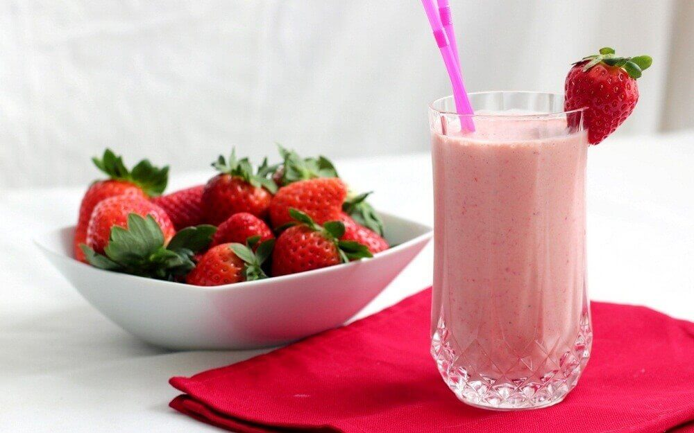 smoothie de fraises