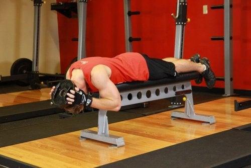 Homme qui fait de l'exercice à l'aide d'un banc