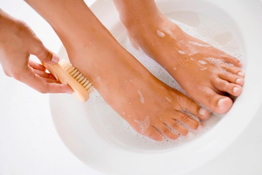 hygiène des pieds