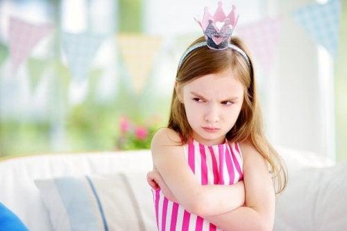 Petite fille fâchée