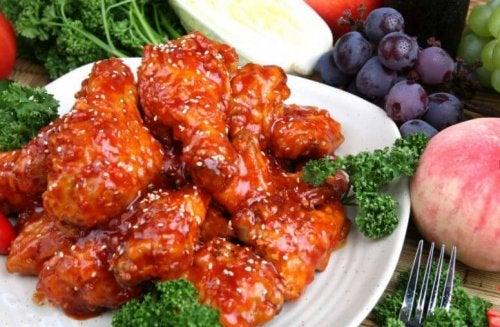 Ailes de poulet aigres-douces au style oriental