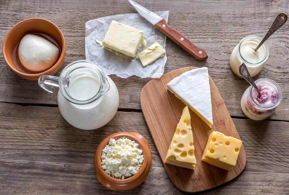 les produits laitiers sont source de protéines maigres