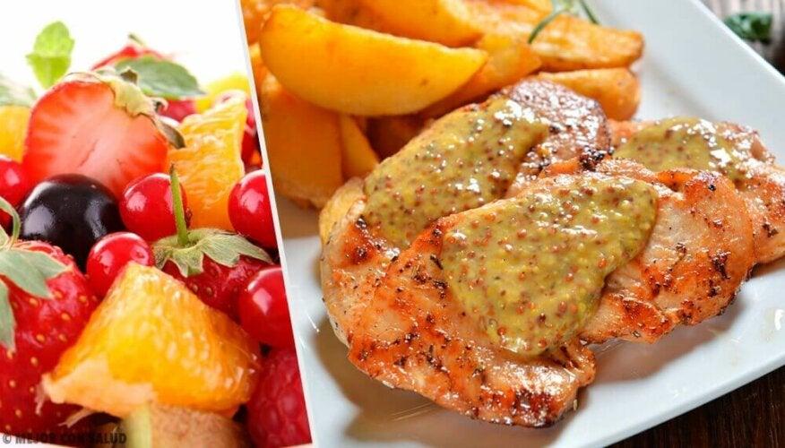 Recette de blancs de poulet sauce aux fruits