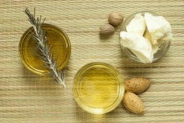 Beurre de karité et huile d'amandes
