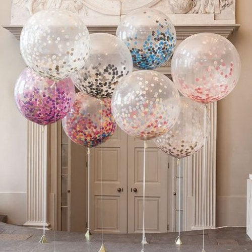 des ballons transparents