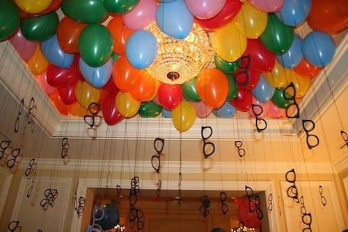 les ballons pour la décoration d'un anniversaire