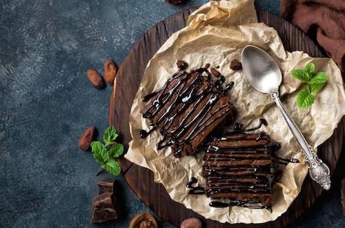 recettes à base de café : brownies