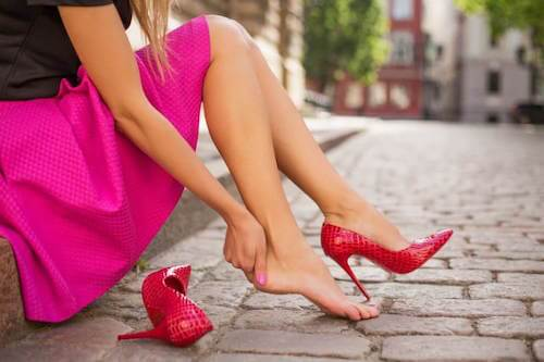 chaussures talons mal aux pieds