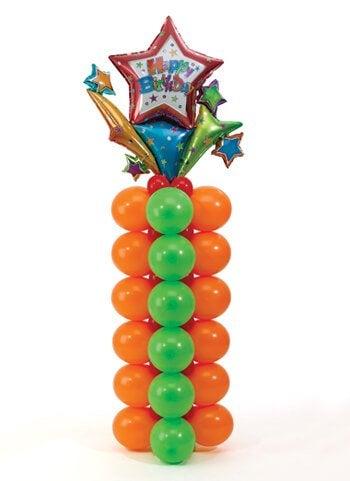 des ballons en forme de colonnes