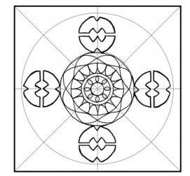 décoration avec des mandalas