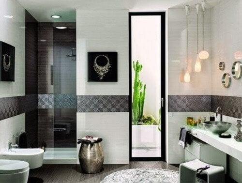 la décoration de la salle de bain : aérations