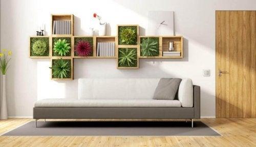 Décoration intérieure à base de plantes