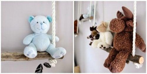 décorer la chambre de bébé avec des balançoires et des peluches