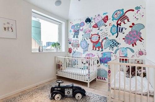 décorer la chambre de bébés jumeaux