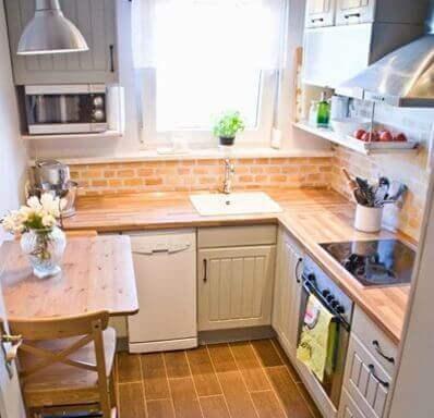 décorer une petite cuisine avec des éclairages