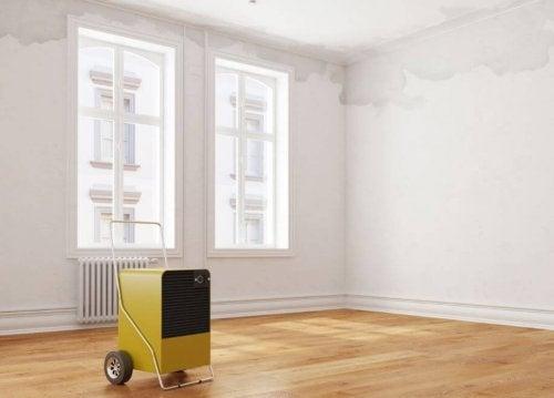 utiliser un déshumidificateur pour combattre l'humidité à la maison.