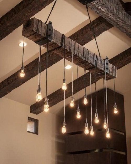 luminaires dans le style de décoration rustique
