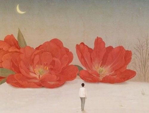 fleurs artificielles en papier