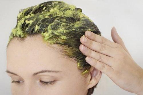 Masque à l'avocat pour les cheveux secs