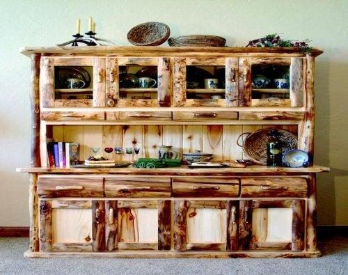 meuble de décoration rustique