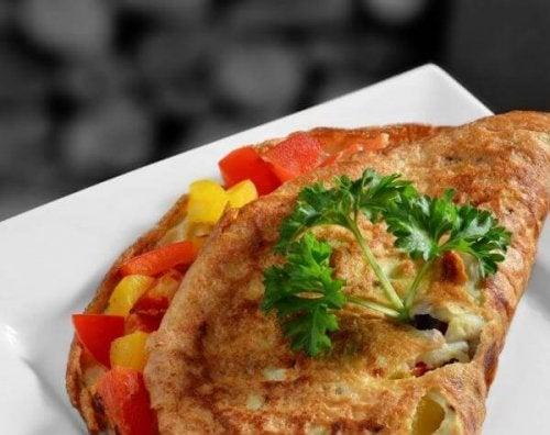 Une omelette aux légumes