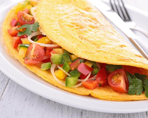 2 recettes d'omelettes aux légumes