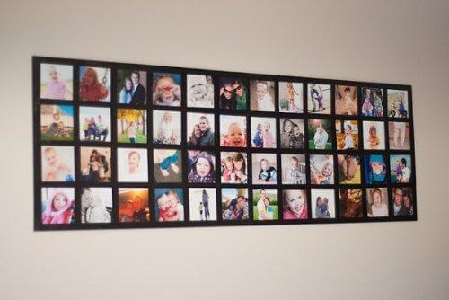 créer des cadres avec des photos de famille