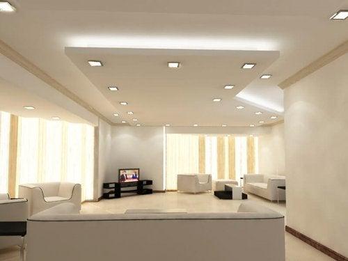 ondulations pour décorer un plafond
