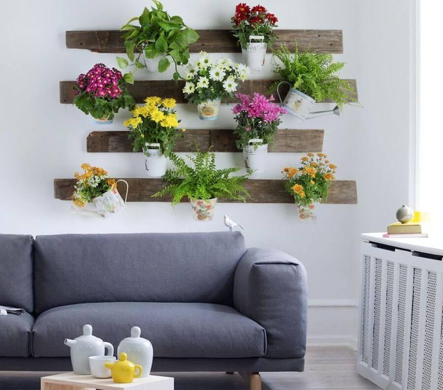 décoration du foyer avec des plantes
