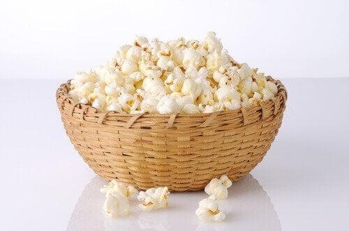 le pop corn maison est un snack pour perdre du poids