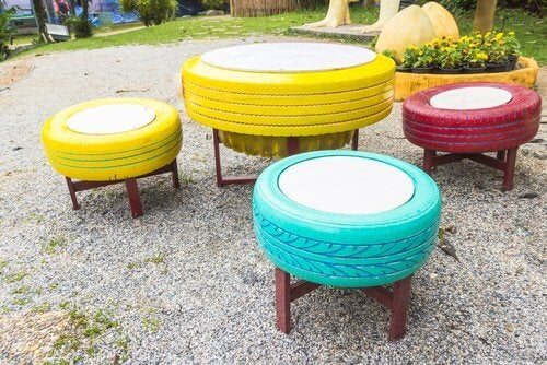 8 façons de recycler les pneus usagés