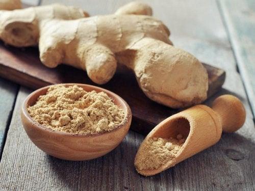 remèdes naturels contre les céphalées : le  gingembre