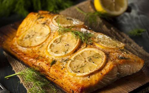 recette du saumon cuit au four