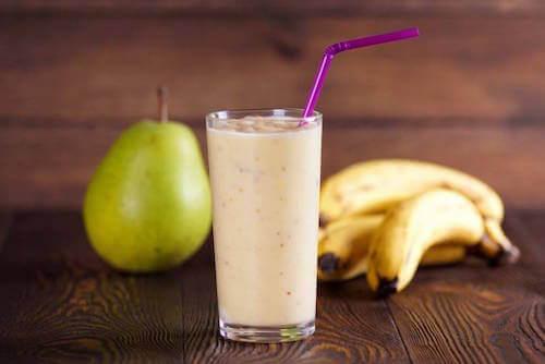 milk-shakes au lait d'avoine et à la poire