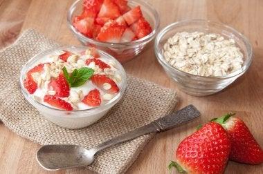 régime d'avoine fraise