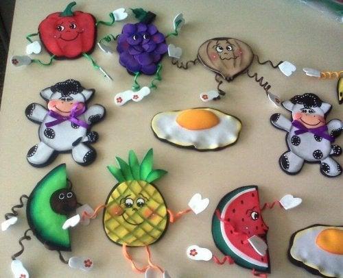 Des aimants en forme de fruits
