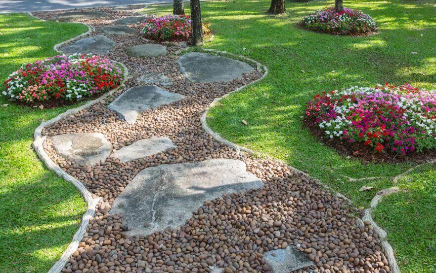 décorer votre entrée avec des pierres