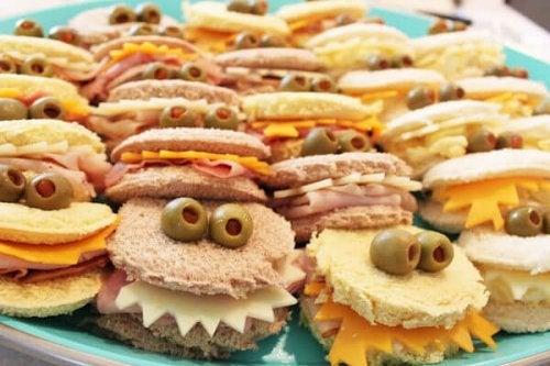 recettes faciles à faire avec les enfants : sandwichs-monstres