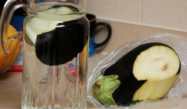 eau d'aubergine contre le cholestérol
