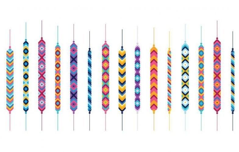 fabriquer bracelets fils colorés