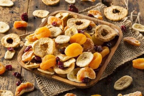 fruits recommandés pour l'alimentation : pas les fruits déshydratés