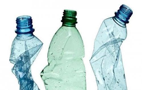 pots avec des bouteilles en plastique