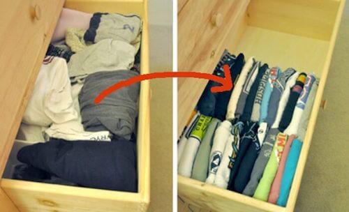 Comment ranger et organiser ses vêtement efficacement.