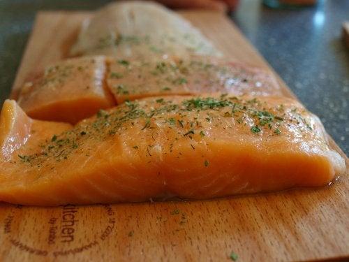recette avec de la menthe et du saumon