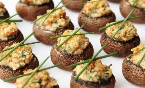4 recettes de champignons farcis à la crème