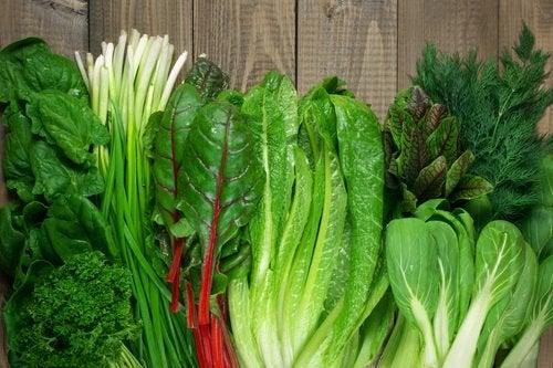 Aliments recommandéspour le régime anti-dépression: légumes verts